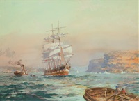 the wool-carrier macquarie bound for england from sydney by john allcott
