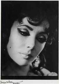 elizabeth taylor as helen of troy in dr. faustus, o.u.d.s by angus mcbean