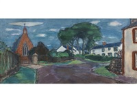 a village church by william george gillies