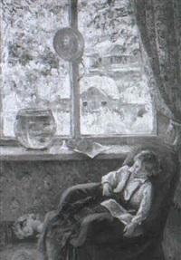 garcon en sommeil by galina rumyantseva