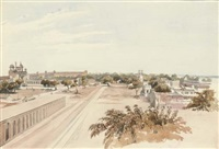 the red fort, delhi (+ temple at durhas; 2 works) by albert hood