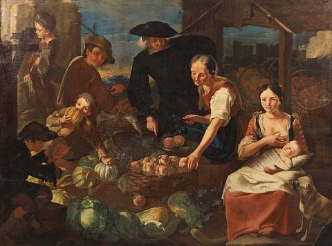 the fruit market by giacomo francesco cipper