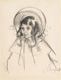 sarah wearing her bonnet and coat by mary cassatt