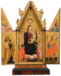 triptychon by master of san jacopo a mucciana