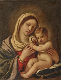 madonna mit kind by guercino