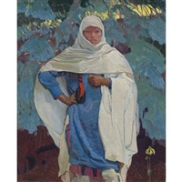 white blanket and blue spruce by ernest leonard blumenschein