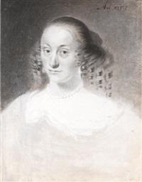 portrait of a lady, head and shoulders by cornelis visscher