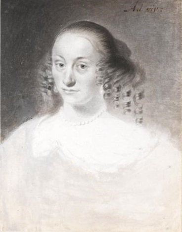 portrait of a lady head and shoulders by cornelis visscher