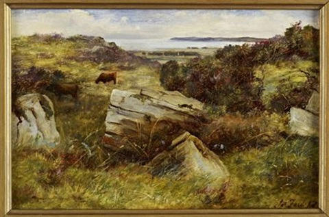a rocky outcrop galloway by james faed