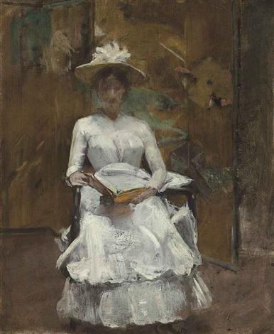 lady in white by william merritt chase