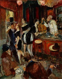 at a cafe, presumably in paris by ludvig jacobsen