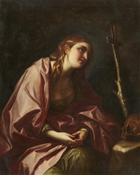 The Penitent Mary Magdalene with a Cross