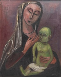 mother and child by nahum tschacbasov