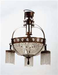 four-light hanging lamp (by winkelman & van der bijl) by jacob pieter van den bosch