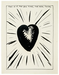 untitled (this is it. the big time, the real thing.) by raymond pettibon