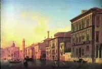 le grand canal a venise, vu depuis le palais vendramine   calergi, vers san geremia et le palais flangini by alexandre raulin