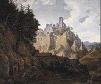 landschaft mit burgruine by ferdinand wilhem von couven
