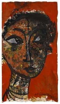 untitled (head of a woman) by alexander skunder boghossian