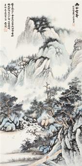 山水 立轴 设色纸本 by wu hufan