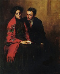 the artist and his wife by nicolas lytras