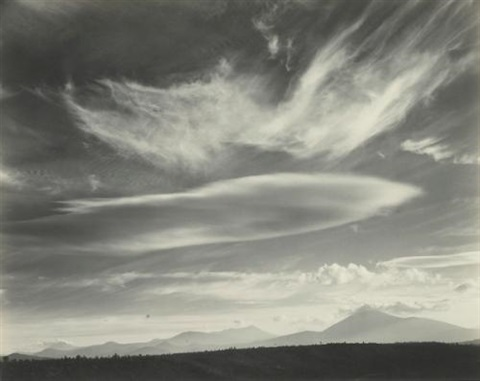 clouds over mt lassen by edward weston