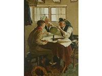 study for scouts of many trails by norman rockwell