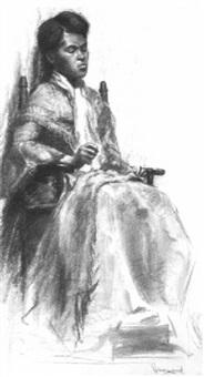 women sewing by arthur j. hammond