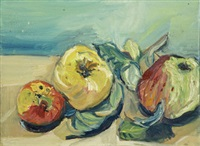 still life with apples (+ another; pair) by catherine mcnamara