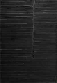 peinture 130 x 89 cm, 1er octobre 1984 by pierre soulages