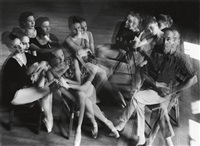 george balanchine and dancers by duane michals