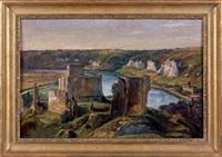 le château gaillard aux andelys by théodore rousseau