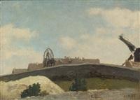 montmartre, mur et moulin by jean-baptiste-camille corot