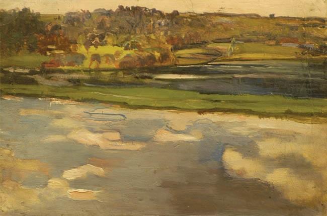 pejzaż odwrócony z rzeką by michalina krzyzanowska