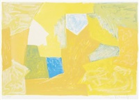composition en jaune, orange et verte by serge poliakoff