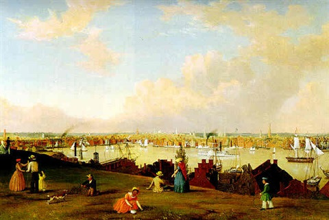 view of baltimore by fitz henry lane