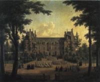 le château d'ecouen avec les jeunes filles de la légion d'honneur. by elisabeth swagers