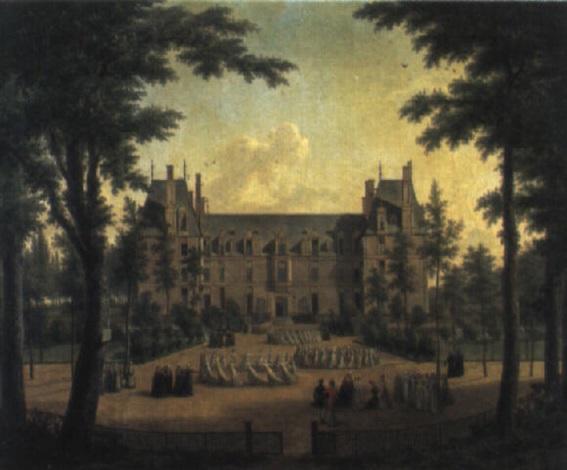 le château decouen avec les jeunes filles de la légion dhonneur by elisabeth swagers
