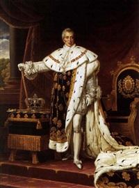 portrait de charles x en costume de sacre (after baron gerard) by alexandre-francois caminade