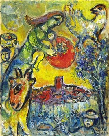 soleil au dessus de vence by marc chagall