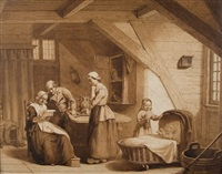 familie in der stube by lambertus lingeman
