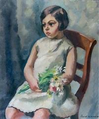 portrait de jeune fille by charles alexandre picart le doux