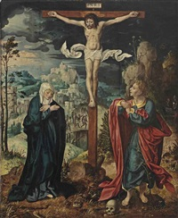 the crucifixion by joos van cleve