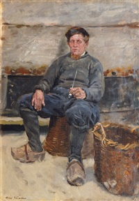 dutch fisherman with pipe by max gaisser