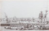 le port de dieppe animé by pierre ozanne