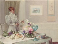 the flower arranger by william samuel henry (sir) llewellyn