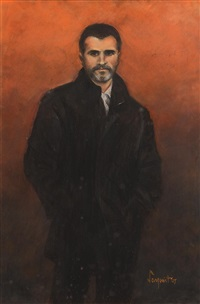 portrait of roy keane by frank sanquest