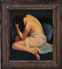femme sur un divan by jean jannel