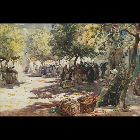 market morning dole brittany by thomas william morley