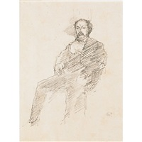 the doctor; ; whistler with white lock (2 works) by james abbott mcneill whistler