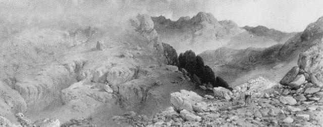 mountain gloom, the devil's glen, county wicklow by edwin a. penley